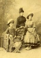 Suisse Ragaz Femmes Portrait Ancienne Photo Carte Cabinet Fetzer 1880 - Photographs