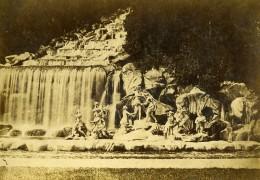 Italie Caserta Fontaine Cascade Ancienne Photo Carte Cabinet Coen 1865 - Foto