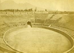 Italie Pompei  Amphithéâtre Arenes Ancienne Photo Carte Cabinet Coen 1865 - Photographs