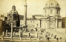 Italie Rome Forum De Trajan Colonne Ancienne Photo Carte Cabinet 1865 - Old (before 1900)