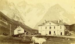 France Alpes Col Du Lautaret & Hospice National Ancienne Photo Carte Cabinet 1890 - Old (before 1900)