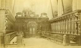 France Yonne Abbaye De Pontigny Interieur Ancienne Photo Carte Cabinet 1890 - Old (before 1900)