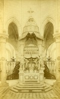France Yonne Abbaye De Pontigny Interieur Ancienne Photo Carte Cabinet 1890 - Photographs
