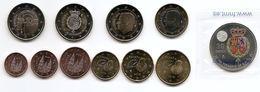 2018-ESPAÑA. JUEGO AÑO 2018 COMPLETO (10 Monedas) + Moneda De Plata - SIN CIRCULAR- - Spanje
