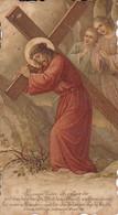 Andachtsbild Jesus Trägt Das Kreuz - Das Zeichen Der Auserwählung - 11*6cm  (33097) - Andachtsbilder