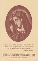 Communion Pascale 1950 - Maria - 11*7cm  (33099) - Andachtsbilder