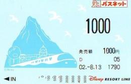 Carte Prépayée Japon * DISNEY * RESORT LINE (1588) *1000   * JAPAN PREPAID CARD - Disney