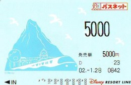 Carte Prépayée Japon * DISNEY * RESORT LINE (1590) * 5000   * JAPAN PREPAID CARD - Disney