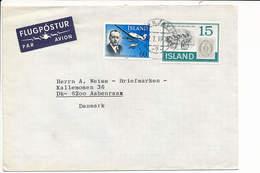 Multiple Stamps Cover Stamp On Stamp - 17 July 1978 Reykjavik To Denmark - 1944-... Repubblica