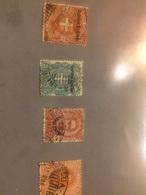 1895 Colonia Eritrea Serie Ordinaria Lotto 4x Valori Usati - Eritrea