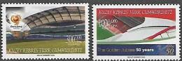 Cyprus  (Turkey)  R.T.C.N. 2004  EURO Portugal Football Stadium 50 Anniv UEFA ,2 Val Mnh - Fußball-Europameisterschaft (UEFA)
