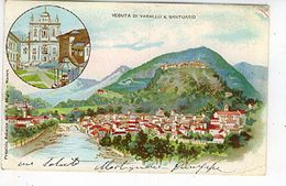 VEDUTA DI VARALLO E SANTUARIO 1903 LITHO - Vercelli