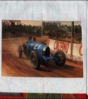 X TARGA FLORIO 1926 BUGATTI TYPE 35T BARTOLOMEO COSTANTINI GREATING CARDS - Motorsport