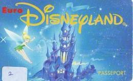Disney PASSE-PARTOUT * Passeport Entreecard FRANCE * PARIS DISNEYLAND (2) PASSPORT * PASS - Disney