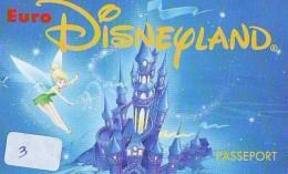 Disney PASSE-PARTOUT * Passeport Entreecard FRANCE * PARIS DISNEYLAND (3) PASSPORT * PASS - Disney