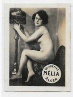 Mélia Cigarettes Photo Nu Féminin Académique Femme Nue Risque érotisme éros Lampe à Pétrole - Objets Publicitaires