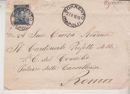 Regno 1916 Busta Sorrento Napoli - Storia Postale