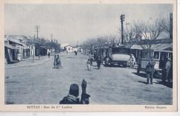 Carte Postale: Settat (Maroc) Rue  Du Ce Loubet   Vieilles Voitures Car Barrango Gendarme  Ed Tinseau  Ph Cassuto - Maroc