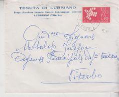 Repubblica 1961 Busta Lubriano Viterbo Marchesa Imperia Gavotti - 6. 1946-.. Republic