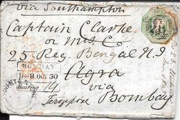 WHITESTONE DEVON EXETER  ENVELOPPE CIRCULEE TO BOMBAY PUNJAB INDIA YEAR 1848 FULL CONTENT INSIDE SUPERBE - Briefe U. Dokumente