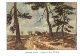 Dorf In Der Briegnitz (nach Einem Gemälde Von Erich Mattschatz) / Druck, Entnommen Aus Zeitschrift / 1920 - Livres, BD, Revues