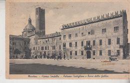 Mantova Piazza Sordello Palazzo Castiglioni E Torre Della Gabbia 1941 - Mantova