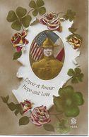 WW1 1914-18 U.S.A. ESPOIR ET AMOUR HOPE AND LOVE DOUGHBOYS SAMMIES SOLDAT AMERICAIN BANIERE ETOILEE VISE PARIS 1348 - Regiments