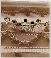 Groß Foto Olympische Winterspiele Garmisch Partenkirchen Hitler Göring U. A. Auf Balkon 1936 - Jeux Olympiques