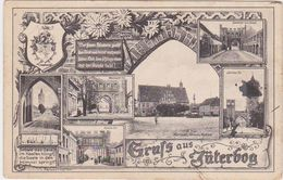 "GERMANY 1916 (28.9.) PICT. PC JÜTERBOG (multi-view) USED FIELDPOST ""Markendorf"" JÜTERBOG - Autres"