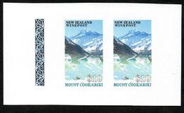 New Zealand Wine Mount Cook/Ariki Spelling Mistake Imperf Proof Pair - New Zealand