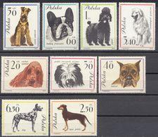 POLONIA - POLSKA - 1963 - Serie Completa Nuova MNH Yvert 1232/1240; 9 Valori, Cani Di Razze Diverse. - 1944-.... Republic