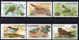 PHILIPPINES, 1979 BIRDS 6 FU - Philippines