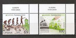 SERBIA 2016,EUROPA CEPT,THINK GREEN,MNH - Serbia