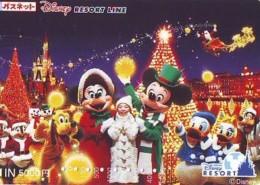Carte Prépayée Japon * DISNEY * RESORT LINE (1612) * DONALD DUCK * MICKEY & MINNIE * JAPAN PREPAID CARD - Disney