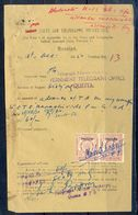 A98- British India OP Pakistan 1Anna Revenue Stamp Used In Document Year 1950. - Pakistan