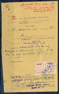 A100- British India OP Pakistan 1Anna Revenue Stamp Used In Document Year 1950. - Pakistan