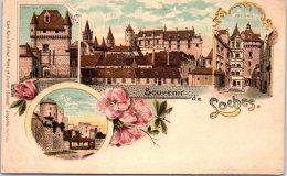 37 LOCHES - Carte Souvenir Type Gruss Precurseur - Loches