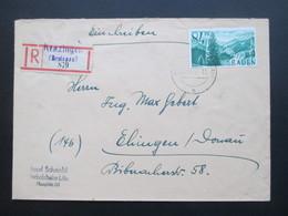 Französische Zone Baden 1947 Nr. 12 EF Einscheben Gezähnter R-Zettel Gestempelt Krenzingen (Breisgau) 879 - Zone Française