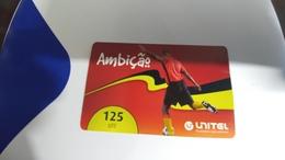 Angola-ambicao-(1)-(125utt)-31.12.2013-used+1card Prepiad Free - Angola