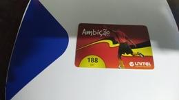 Angola-ambicao-(3)-(188utt)-31.12.2013-used+1card Prepiad Free - Angola