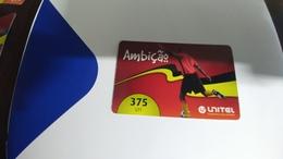 Angola-ambicao-(4)-(375utt)-31.12.2014-used+1card Prepiad Free - Angola