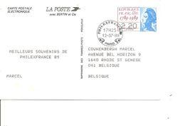 Expositions Philatéliques - Philexfrance 89 ( Carte Commémorative De France Du 12/07/1989 Avec Cachet De L'exposition à - Philatelic Exhibitions
