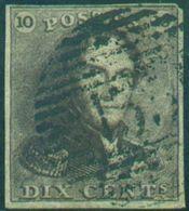 Epaulette 10 Centime Brune,bien Margée Et Obl. P.133 YPRES.  Superbe - 12589 - 1849 Epaulettes