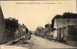 Cp Nouvion Le Comte Aisne, La Grand Rue, Straßenpartie Im Ort - France