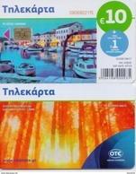 GREECE PHONECARD  PAINTING/THE QUIET HARBOR-M0175- 50000pcs-8/17-USED - Grecia