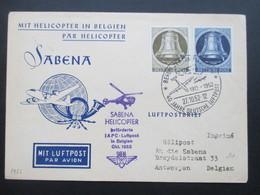 Berlin 1952 Glocken Nr. 82 U. 85 Mit Helicopter In Belgien. Sabena Helicopter IAPC Luftpost. Helikopterpost SST - Hubschrauber