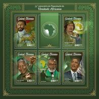 GUINEA BISSAU 2018 MNH** Haile Selassie Gaddafi Nelson Mandela Barack Obama AOU M/S - OFFICIAL ISSUE - DH1805 - Famous People