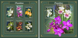GUINEA BISSAU 2018 MNH** Orchids Orchideen Orchidees M/S+S/S - IMPERFORATED - DH1805 - Orchideen