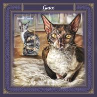 GUINEA BISSAU 2018 MNH** Cats Katzen Chats S/S - IMPERFORATED - DH1805 - Hauskatzen