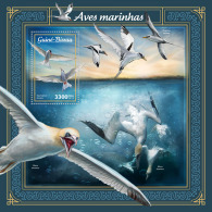 GUINEA BISSAU 2018 MNH** Sea Birds Seevögel Oiseaux De Mer S/S - IMPERFORATED - DH1805 - Vögel